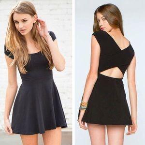 Brandy Melville Black Bethan Cross Back Mini Dress